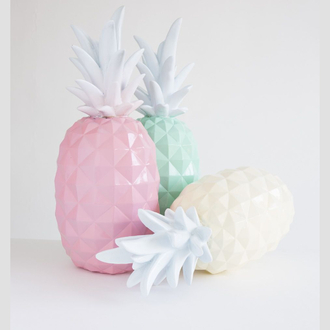 jewels love them home accessory pineapple pastel home decor home furniture pastel pink pastel green mint pastel yellow tumblr tumblr aesthetic pastel grunge pale grunge pale aesthetic