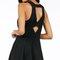 Fit & flare cutout back dress