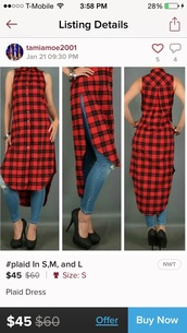 dress,plaid,red plaid,shirt,red,black,pattern,plaid dress,button down shirt,blouse