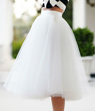 skirt white skirt tulle skirt