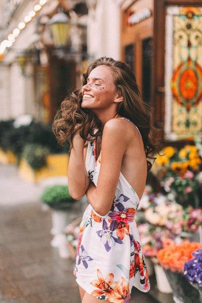 dress mini dress floral dress