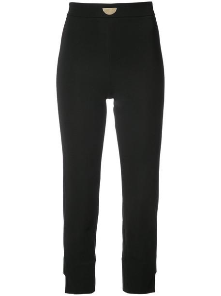 cushnie et ochs cropped women spandex black pants