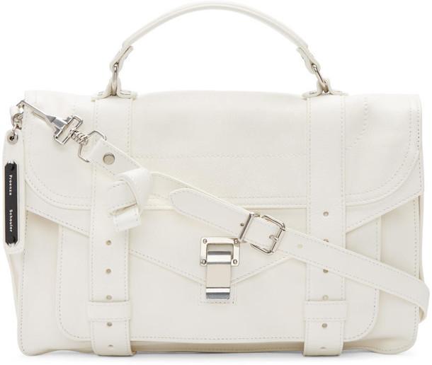 Proenza Schouler satchel white bag