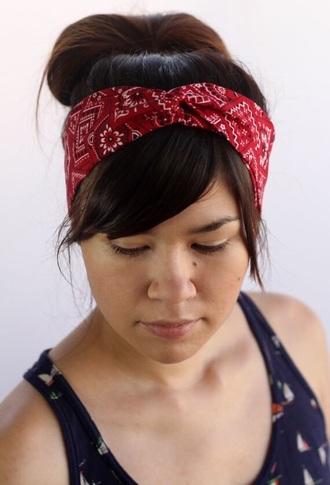 hair accessory bandana bandana print headband hipster