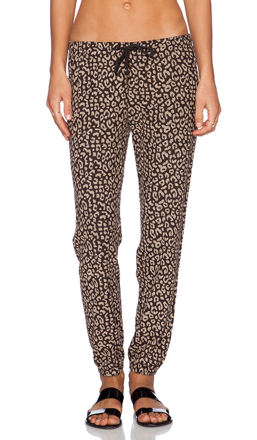 Obey lola sweatpant in reverse black leopard from revolveclothing.com