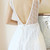 Plunge V Back Dress - White