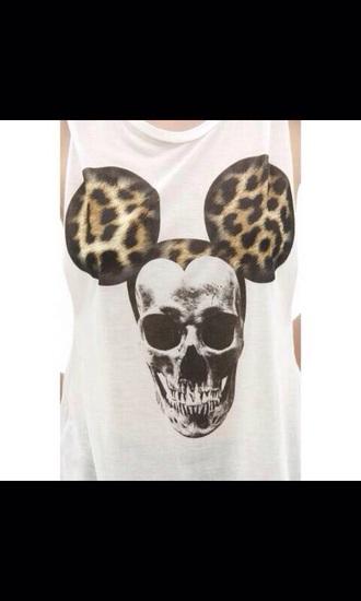 t-shirt skull chettah print