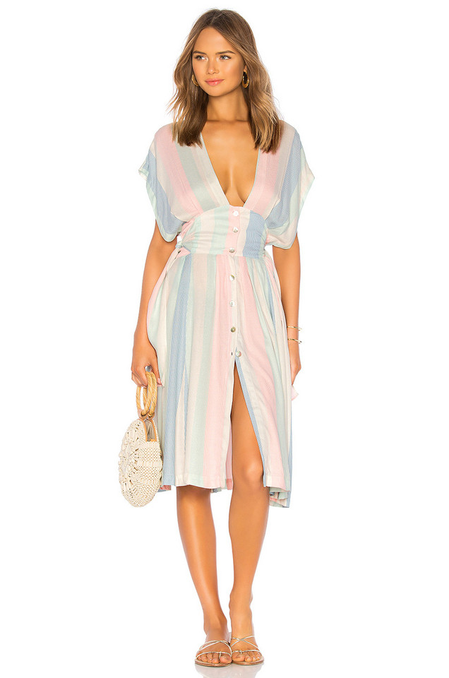 Salinas Button Down Dress in pink