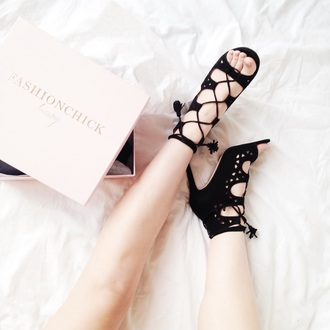 meet me in paree blogger suede shoes black heels black shoes classy strappy sandals peep toe heels