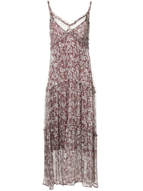 dress slip dress women silk purple pink