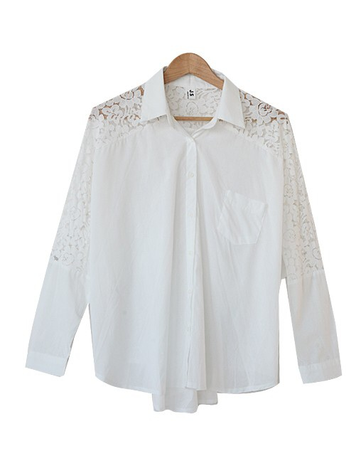 Beautiful button down laces back blouse top
