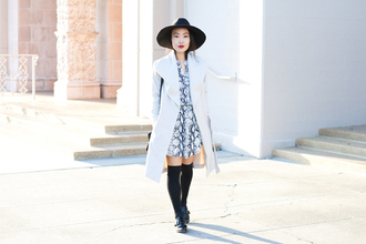 it's not her it's me blogger coat dress snake print white coat