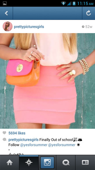 skirt pink skirt bodycon bodycon skirt fitted skirt tight skirt tight skirts pink