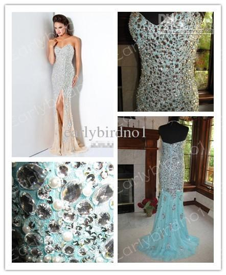 Discount pageant dresses2013 sexy spring summer strapless crystal chiffon floor length prom dresses jov4247 online with $205.95/piece