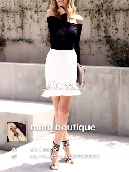 white skirt supermuse skirt