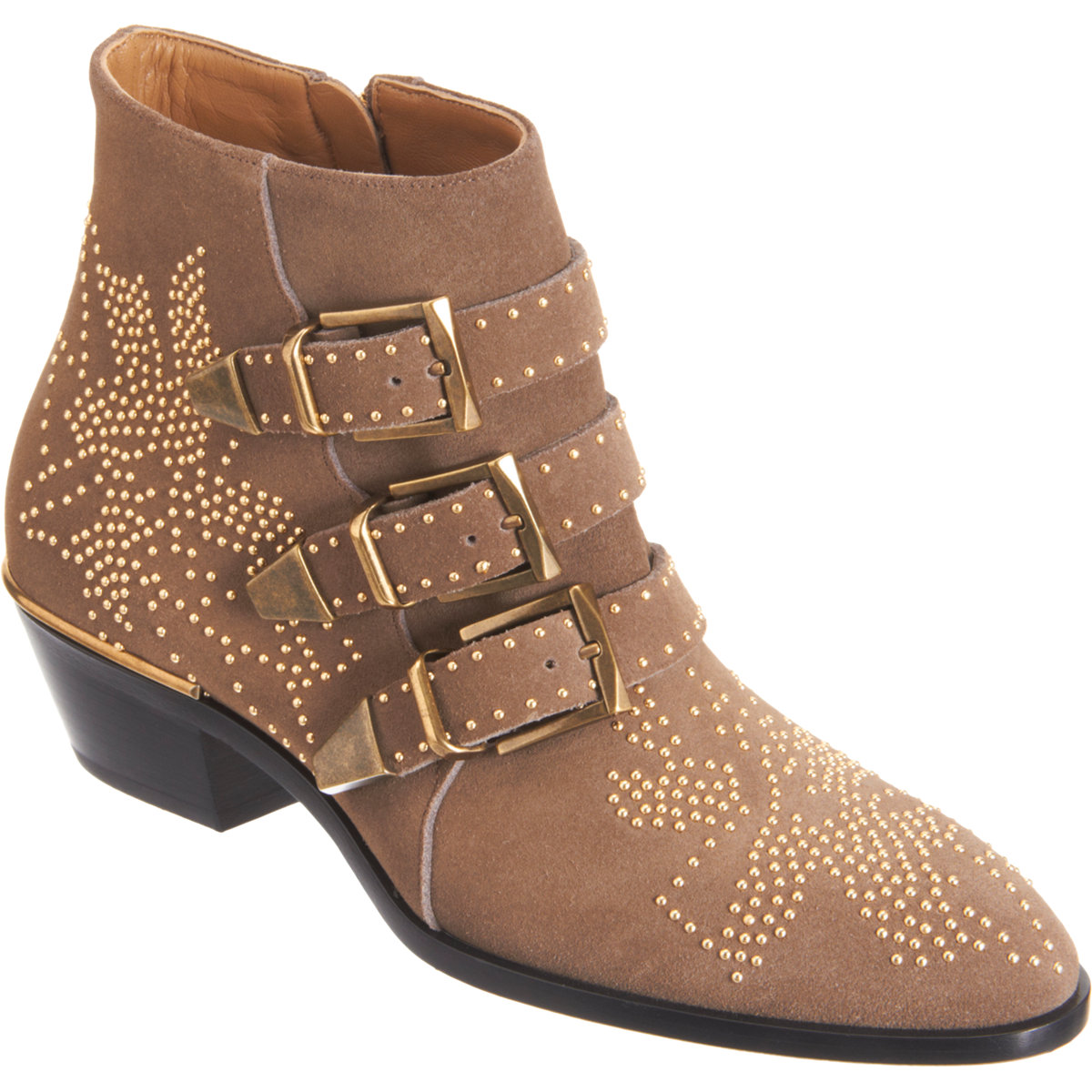 Chloé suede susan studded ankle boots at barneys.com