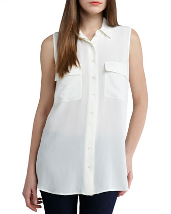 Equipment Signature Sleeveless Blouse - Neiman Marcus