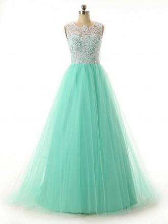 dress long prom dress mint dress mint prom dress long dress