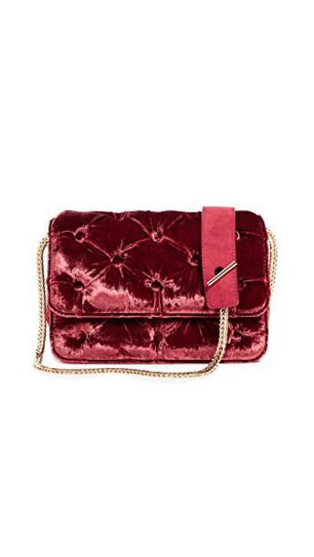 BENEDETTA BRUZZICHES bag shoulder bag velvet burgundy