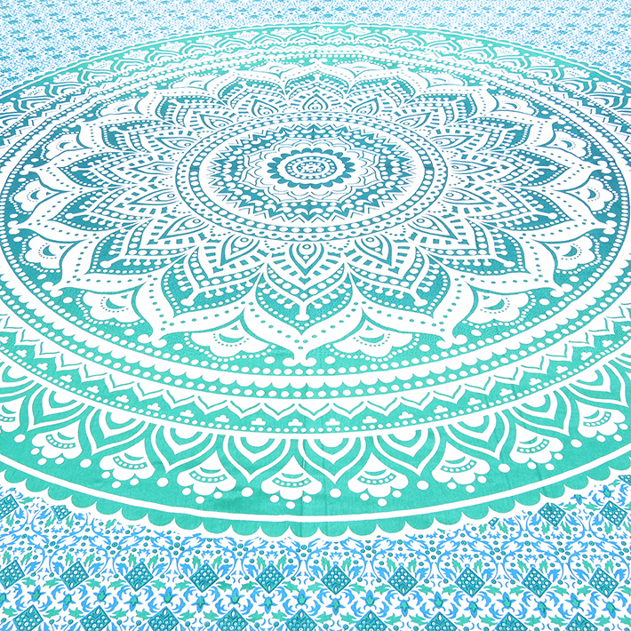Colorful Ombre Mandala Wall Hanging Tapestry Bedsprea