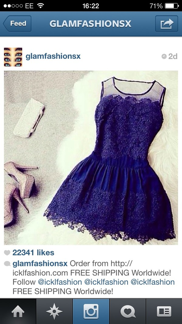 dress purple dress blue dress lace dress short dress dark blue