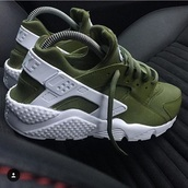 shoes,nike,huarache,nike shoes,nike hurraches,olive green,khaki,sneakers,harruches,green,cute,sporty,adidas,white,harruaches