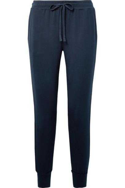 Skin pants track pants navy