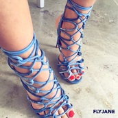 shoes,denim sandals,denim heels,strappy heels,denim