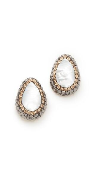 pearl earrings stud earrings gold jewels