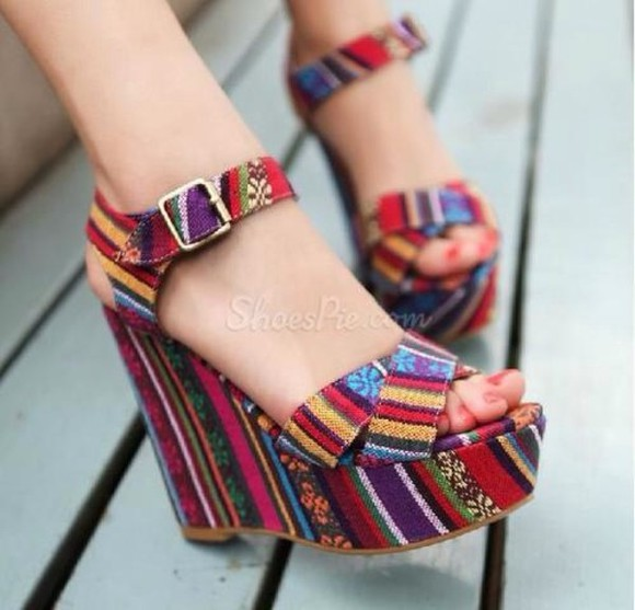 shoes red bordeaux pumps aztec high heels