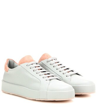 sneakers leather grey shoes