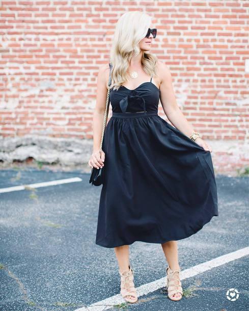 dress tumblr black midi dress midi dress black dress sandals sandal heels high heel sandals sunglasses shoes