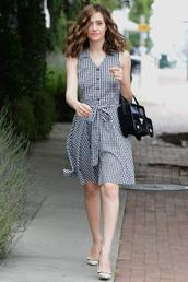 dress,midi dress,pumps,emmy rossum,shoes