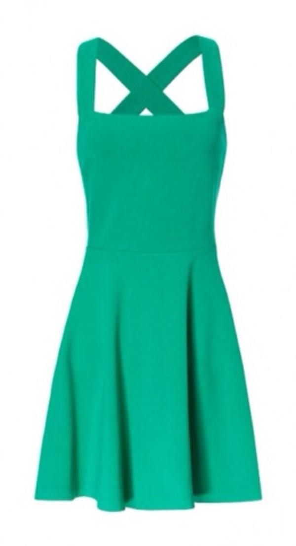 dress h&m green dress