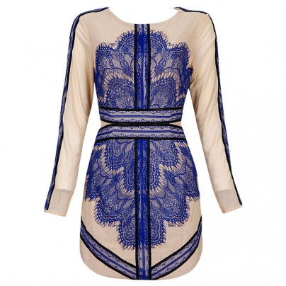 Avery BLUE Lace Dress