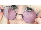 sunglasses,kawaii,cute,glasses,round sunglasses,hippie glasses,pink,purple,accessories,Accessory,kawaii accessory,brown,round,decora,harajuku,japanese,asian,japanese fashion