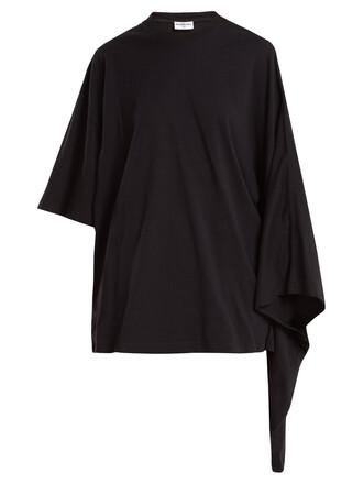 kimono top cotton black