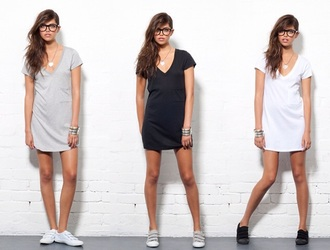 dress black t-shirt dress white t-shirt