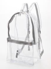 bag,see through,backpack,shoes,transparent,grunge,pastel,pastel goth,transparent  bag,clear,clear backpack,bookbag,sliver,transparent bag,grey,whit,white,See through bag,grudge,american apparel,cute,cool,hipsta