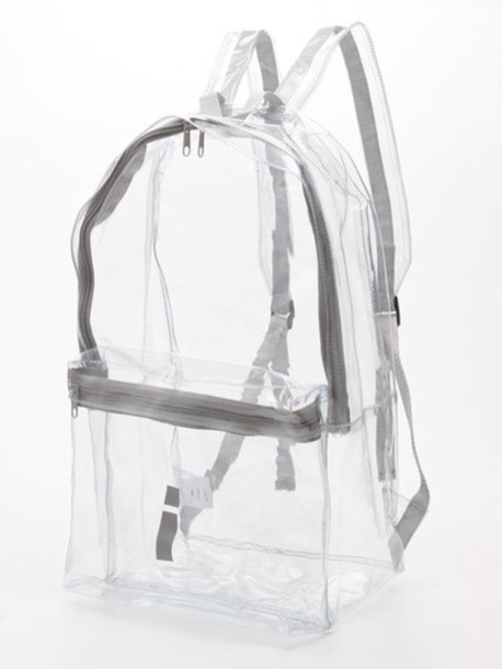 bag see through backpack shoes transparent grunge pastel pastel goth transparent  bag clear transparent  bag clear backpack bookbag sliver transparent bag grey whit white See through bag grudge see through american apparel cute cool hipsta