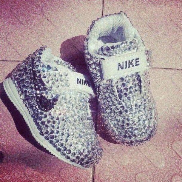 Shoes nike diamonds baby cute tennis shoes nike air