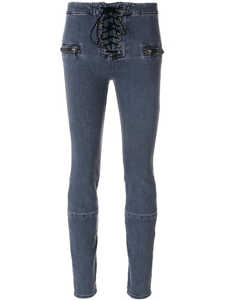 Unravel Project jeans skinny jeans women spandex lace cotton grey