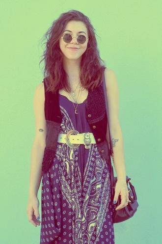 simply hope style blogger jewels jumpsuit shoes sunglasses bag belt jacket