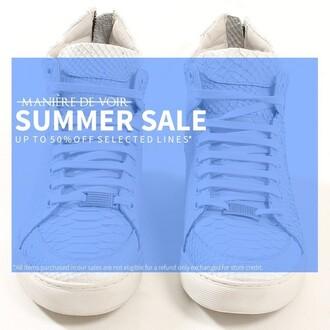 shoes maniere de voir virtue python sneakers trainers