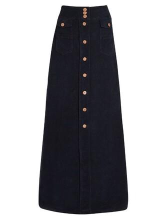 skirt cotton dark blue dark blue