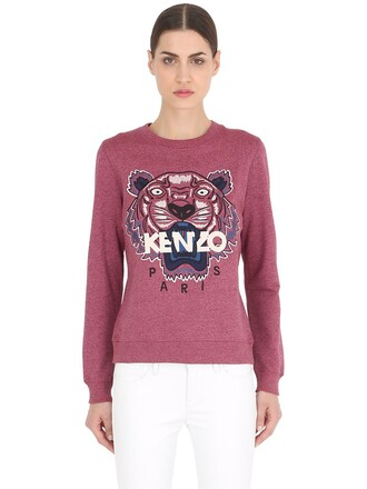sweatshirt embroidered tiger cotton sweater