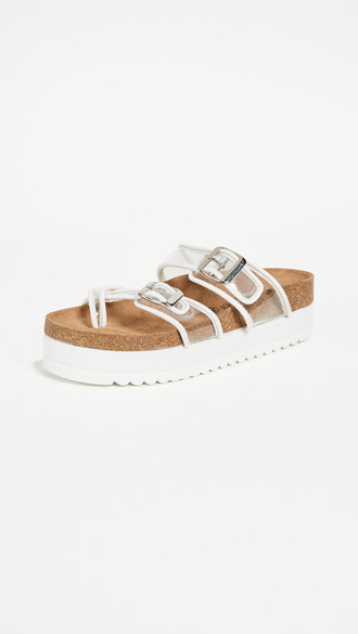 sandals clear white shoes