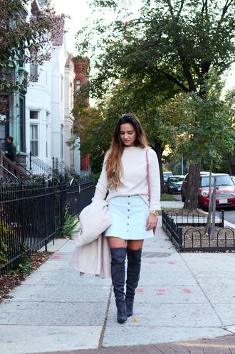 district dress up blogger button up skirt suede boots