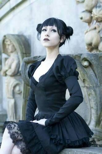 dress goth gothic gothic lolita gothic dress black dress black
