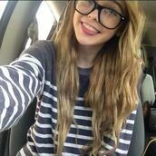sweater,striped shirt,sunglasses,glasses,stripes,sweatshirt